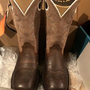 Ariat Workhog Square Toe Boots Toddler Size 9 NEW